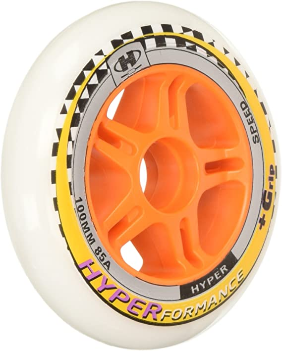 8 Wheels Inline Skate Wheels Hyper XTR Speed Skating 84A Fitness and Recreational Wheels Sizes: 84MM RED, 84MM