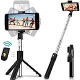 Salandens Palo Selfie Trípode,Selfie Stick Trípode Inalámbrico con Control Remoto,360°Rotación Extensible Selfie Stick para i