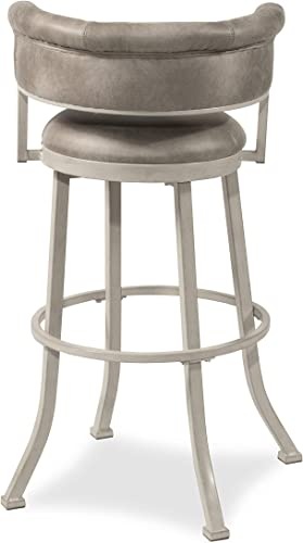 Hillsdale Furniture Westport Swivel Counter Height Stool, Dark Brush Ivory