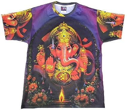 TICILA Camiseta para hombre lila Lord Ganesha Ganesha hindú Dios ...