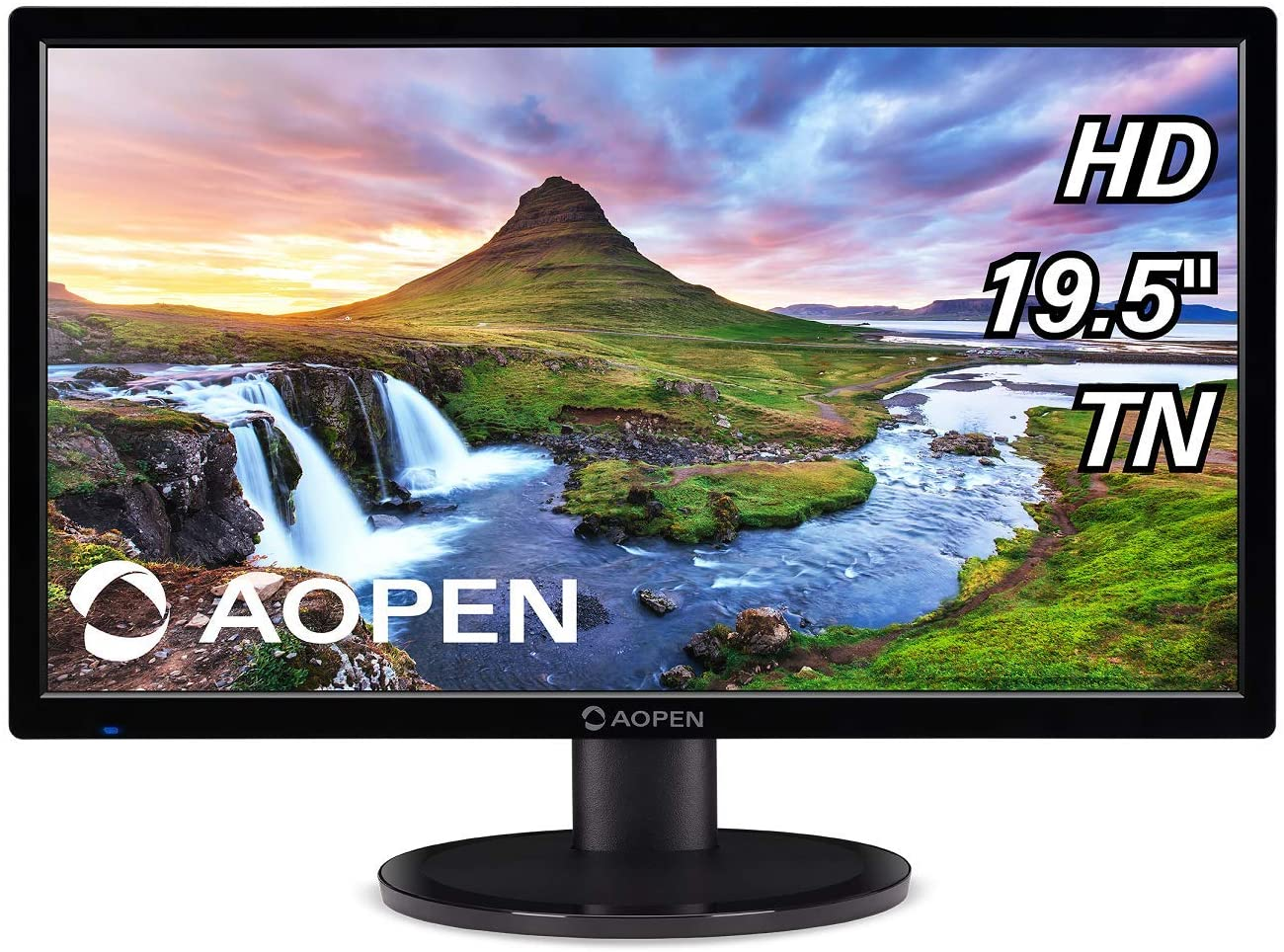 "AOPEN 20CH1Q bi 19.5"" HD (1366 x 768) TN Monitor for Work or Home (1 x HDMI & VGA Port), Black"