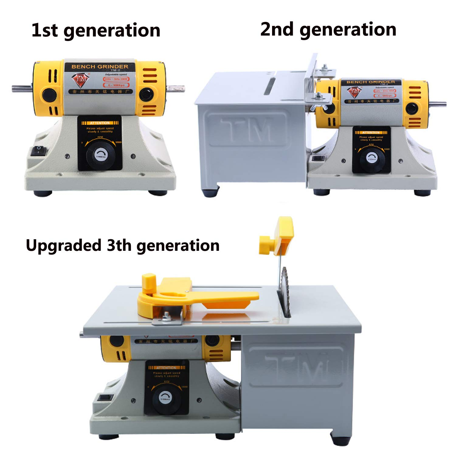 Superb Upgraded Jewelry Polishing Machine Rock Polisher Bench Buffer Tutu Home Bench Polisher Grinder Mini Table Saw Kit For Gem Metal Woodworking With Machost Co Dining Chair Design Ideas Machostcouk