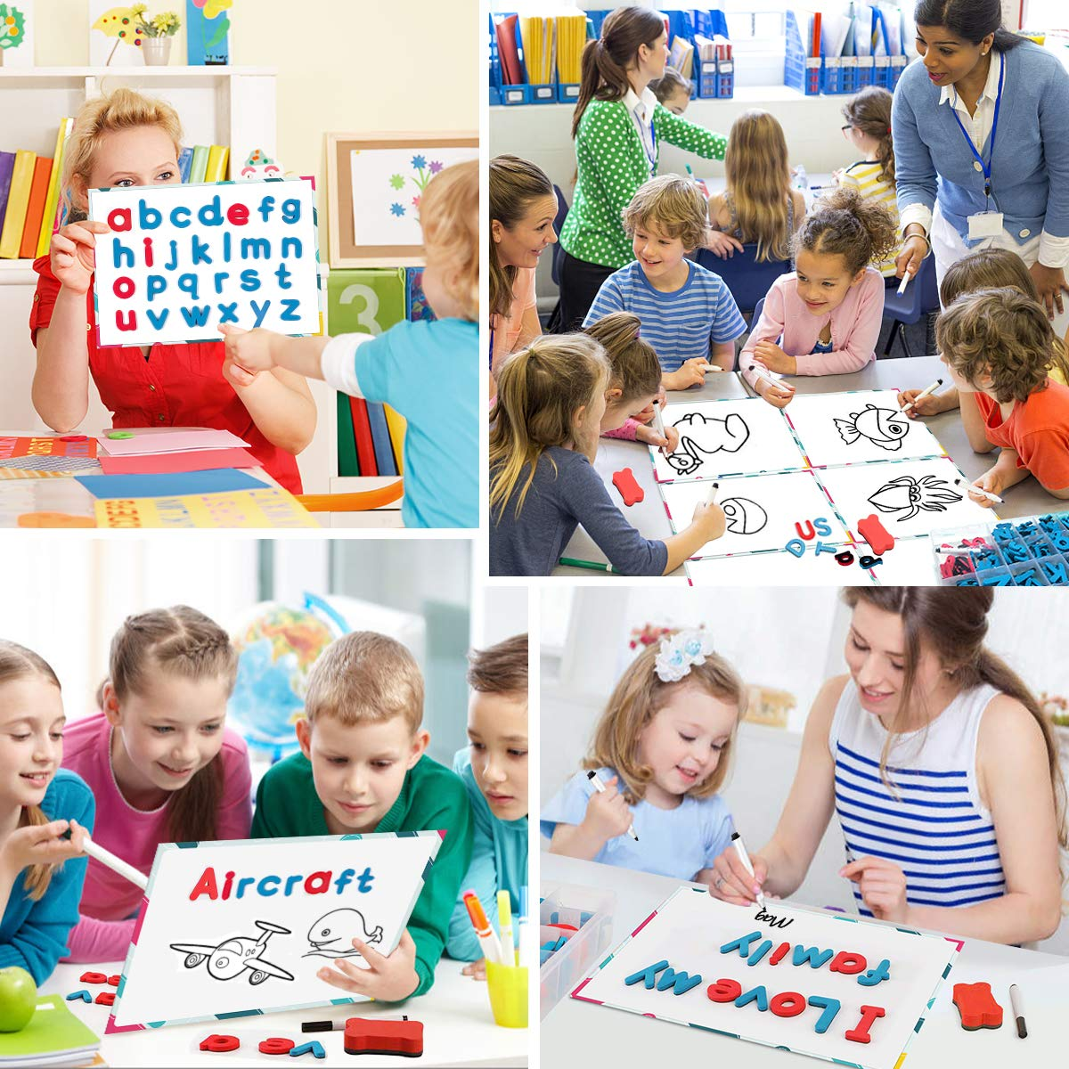 JONYJ Foam Magnetic Letters, Magnetic Alphabet Letters Board with Storage Box, 208 Pcs ABC Uppercase Lowercase Alphabet Magnets for Kids Spelling and Learning - Classroom & Home Education by JONYJ (Image #6)
