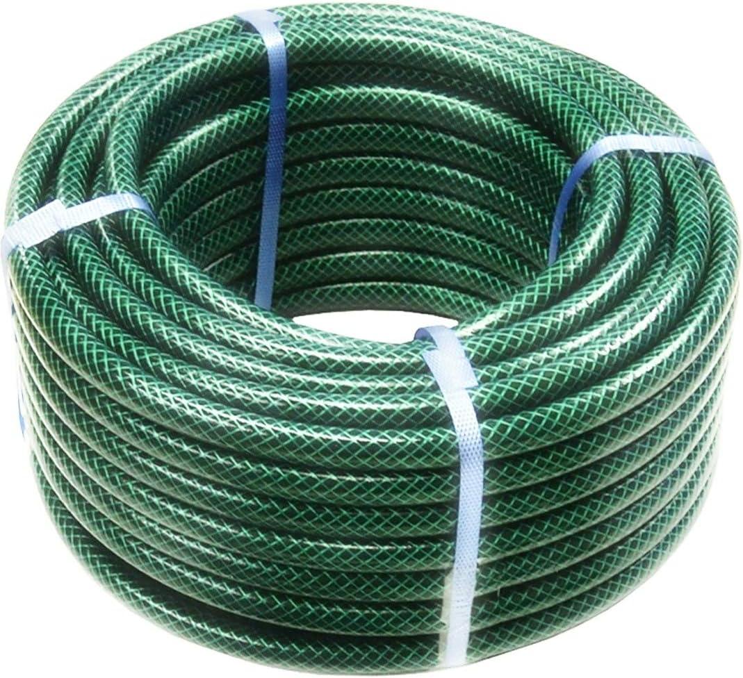 50m Garden Hose Pipe Reel Reinforced Tough 50 Metre Outdoor Hosepipe Green New Amazon Co Uk Garden Outdoors