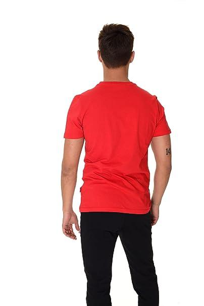 Carlsberg T Shirt Girocollo Manica Corta Uomo Rossa gCTplmFle