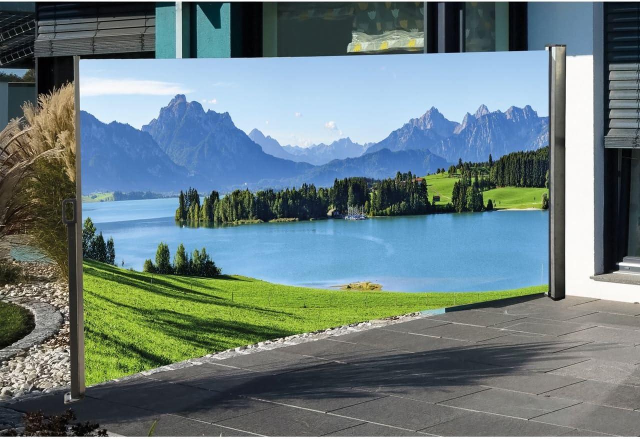 Amazon De Seitenmarkise Mit Fotodruck Berge