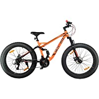 Atlas Turbine 26 Inches 21 Speed Fat Tyre Bike for Adults Orange