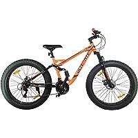 Atlas Turbine 26 Inches 21 Speed Fat Tyre Bike for Adults Orange