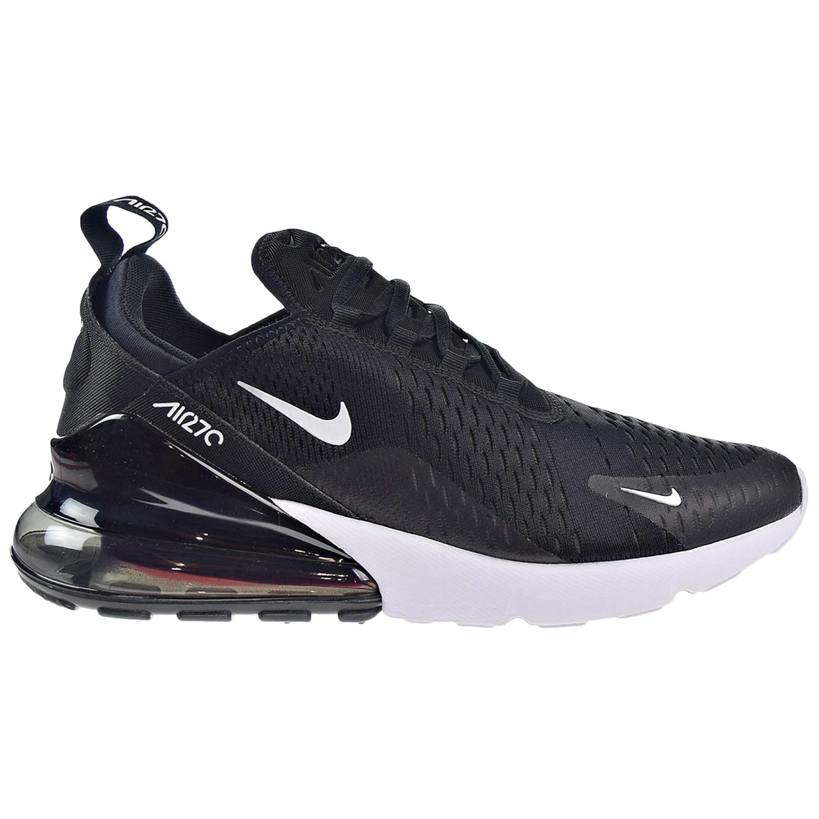 top fashion 53512 8c10a Galleon - Nike Mens Air Max 270 Running Shoes Black White Solar  Red Anthracite AH8050-002 Size 10