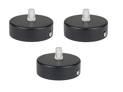 Florón negro, embellecedor para lámpara de techo, suspensor estándar tamaño m10, 80x25 mm