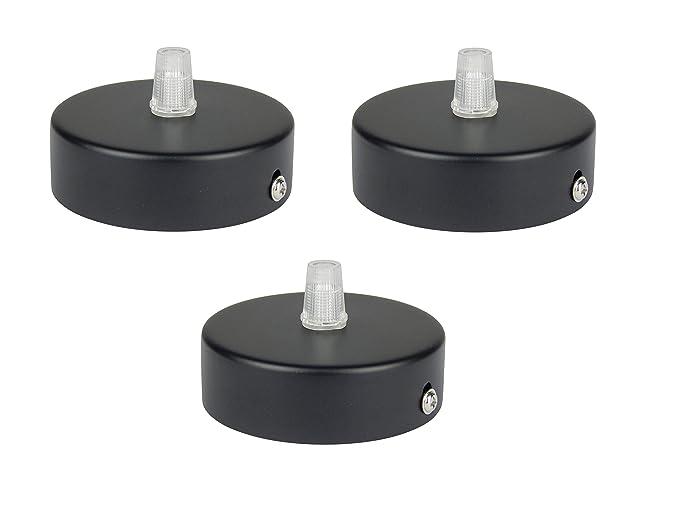 Florón negro, embellecedor para lámpara de techo, suspensor estándar tamaño m10, 80x25 mm, embellecedor para lámpara de techo, incl. ...