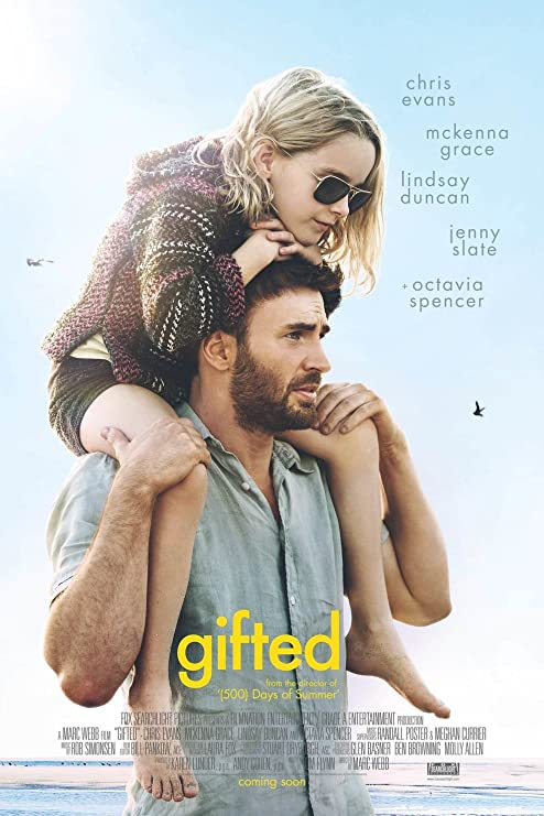 Poster of Gifted 2017 Full Hindi Dual Audio Movie Download BluRay 720p