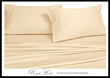 splitking adjustable king bed sheets 5pc solid ivory 100 cotton 600