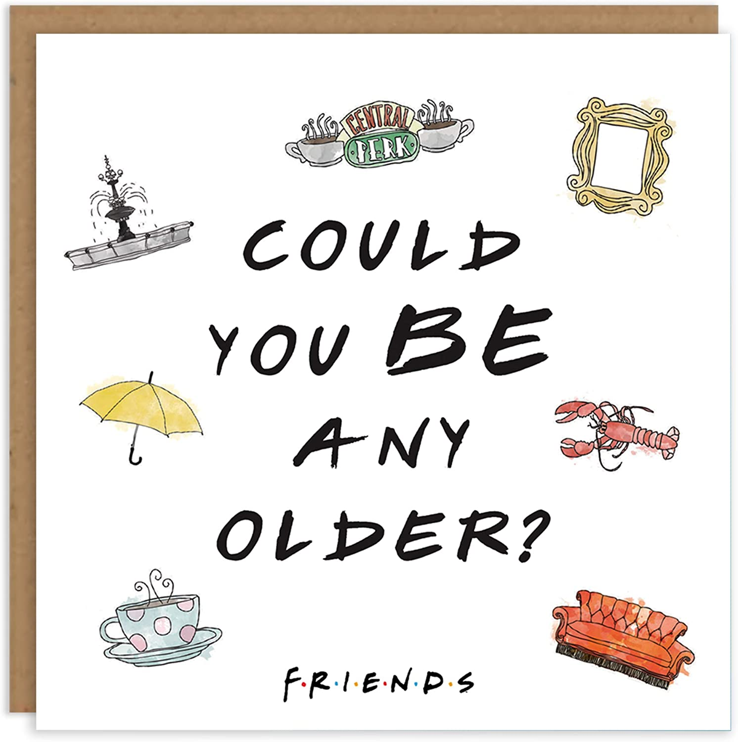 Friends TV Show Chandler Bing 'Could You Be Any Older' Official Licensed  Product