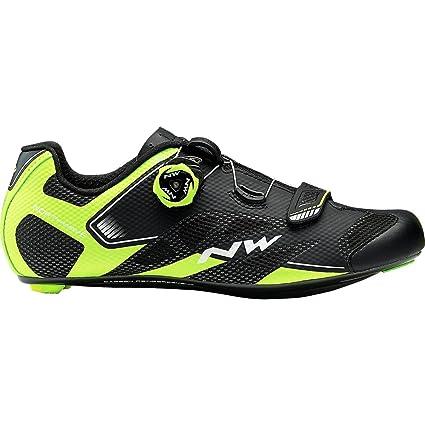Sonic 2 Plus Cycling Shoe - Men's Black/Yellow Fluo/White 44.0