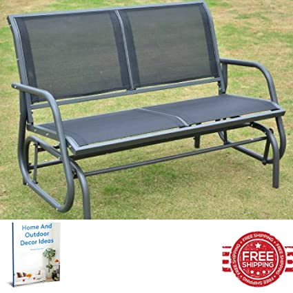 Fabulous Amazon Com Outdoor Benches Metal Park Patio Side Bench Gmtry Best Dining Table And Chair Ideas Images Gmtryco