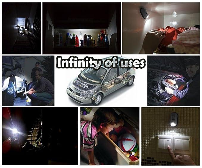 Ideal Products Pack de 2 Luces LED con Sensor de Movimiento. para armarios, cajones, escaleras, sótanos o garajes. No Requiere instalación y 4 Modos de ...