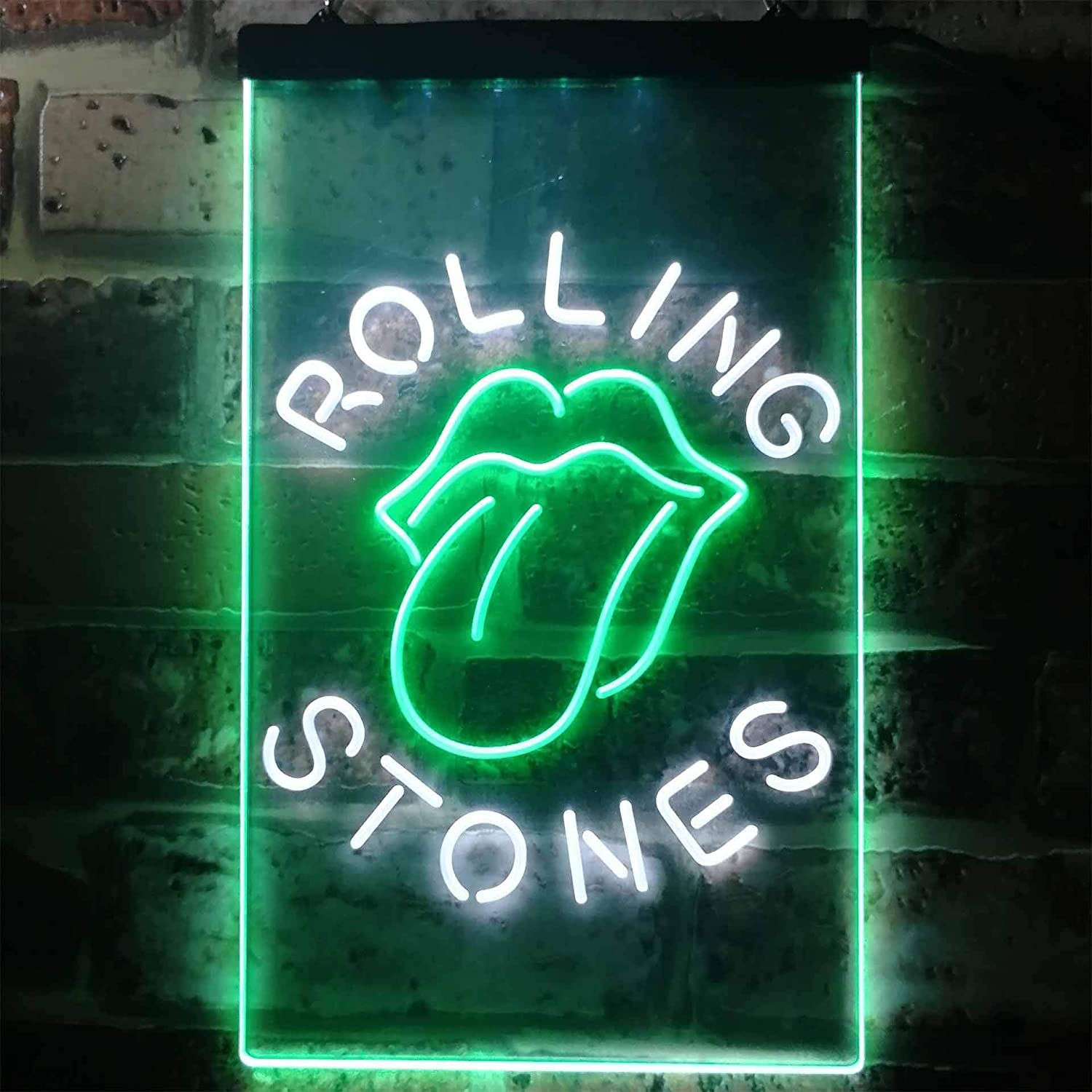 Red W20cm x H30cm Rolling Stone Music Bar Club Novelty LED Neon Sign Blue