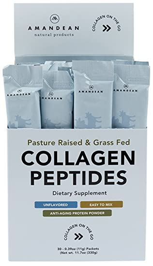 Collagen Peptides Powder Packets | 30 Individual Stick Packs | Grass-Fed Hydrolyzed Collagen Protein | Unflavored, Easy to Mix | Paleo & Keto Friendly ...