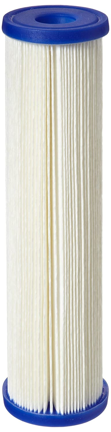 Pentek ECP20 10 Pleated Cellulose Polyester Filter Cartridge 9 3 4 x 2 5 8 20 Microns