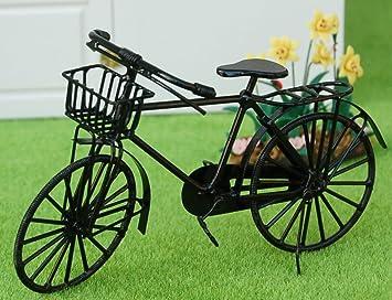 Amazon.es: perfeclan Bicicleta De Metal Pintada En Negro Dollhouse ...