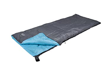 Camping Gear Travel Mini-Saco de Dormir, Color Gris y Azul, 190 x 75 cm: Amazon.es: Deportes y aire libre
