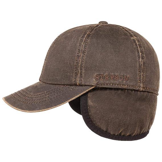 495daf65e46 Stetson Densey Cap with Ear Flaps Base Baseball  Amazon.co.uk  Clothing