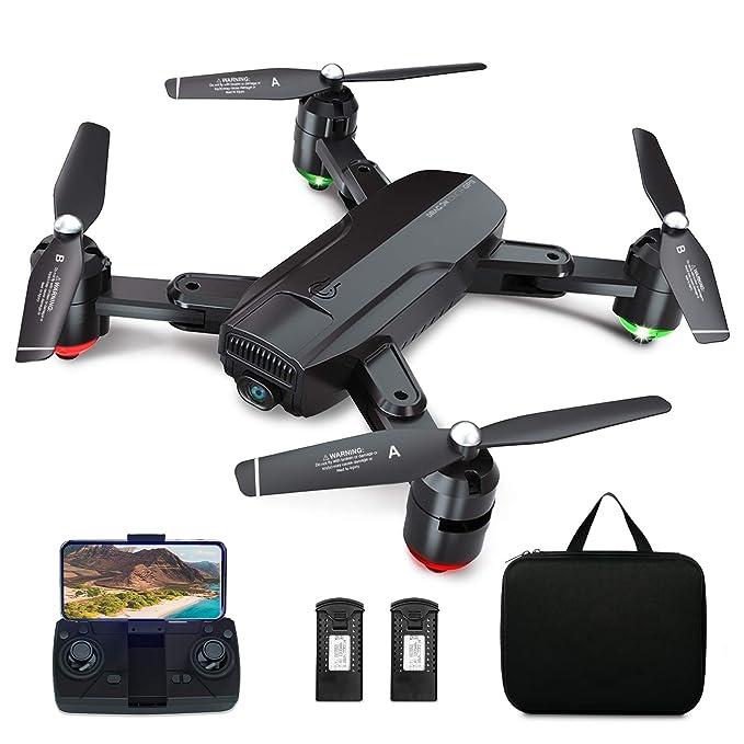 Dragon Touch Drone Plegable GPS con Cámara 1080P HD Avión con WiFi FPV Control Remoto Modo sin Cabeza RC Quadcopter…