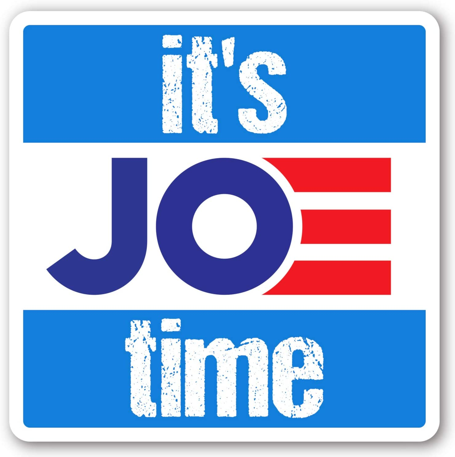 Crafted-Brand Joe Biden Sticker – Easily Removable Vinyl Decal with A Clever Anti-Trump Twist (3 X 3 Inch)