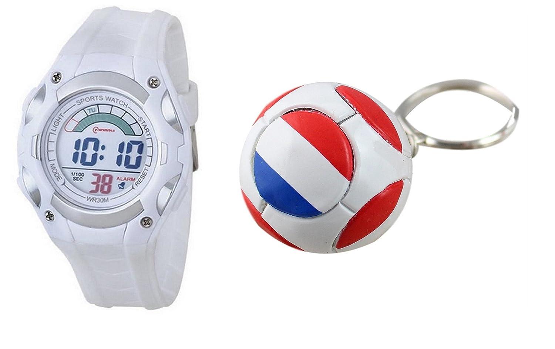 Kit Reloj Niños porte-cle balón de la selección de Francia Les ...