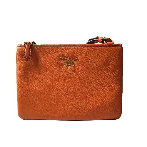 0df7dc177c71 Prada Orange Papaya 1BH046 Vitello Leather Phenix Crossbody Handbag   Amazon.ca  Shoes   Handbags