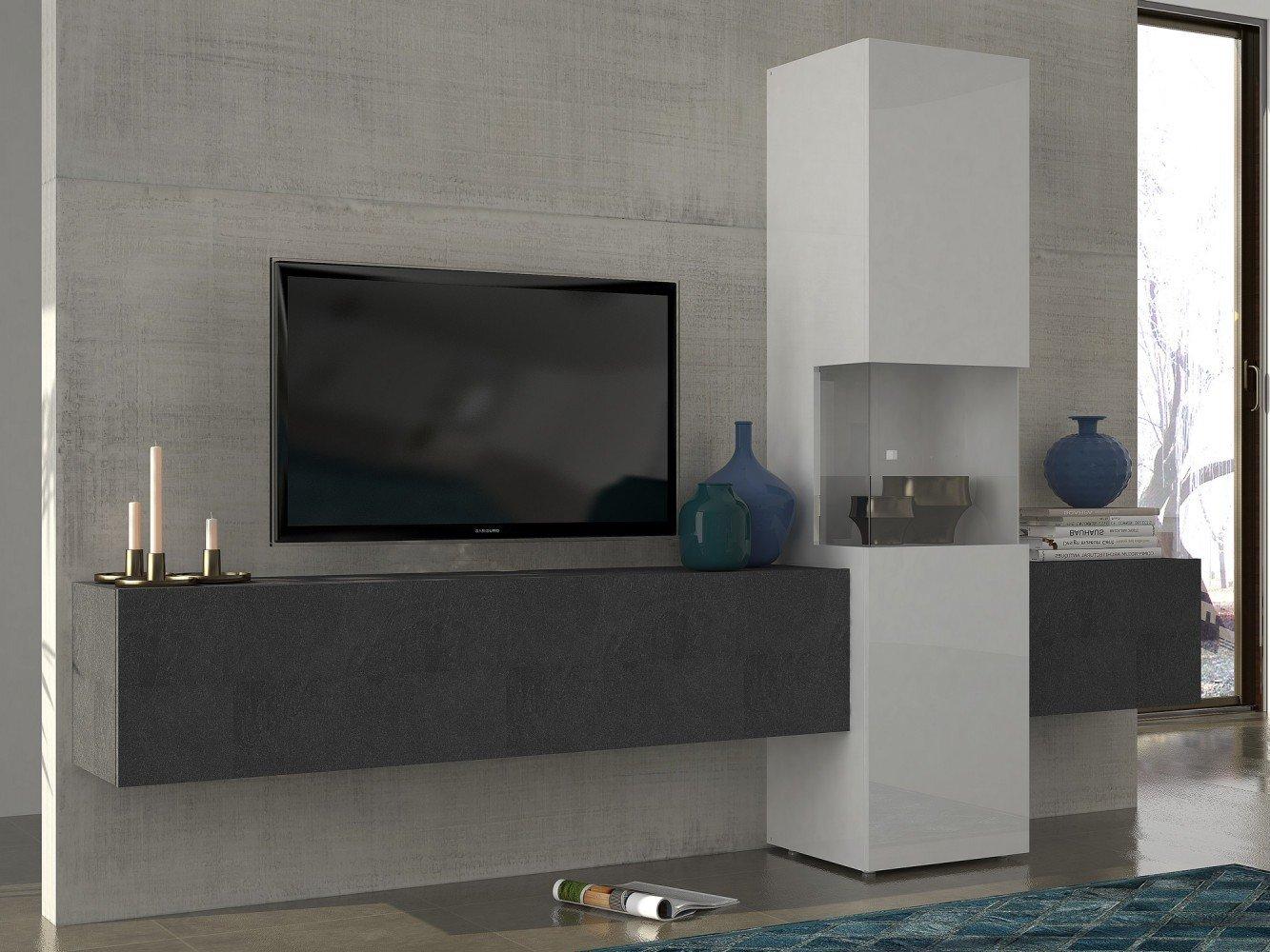 Fabelhaft Wohnzimmerschrank Hängend Das Beste Von Tecnos Wohnwand | Mediawand | Wohnzimmer-schrank |