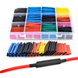 YOMYM 50005R 560pcs 2: 1 Electrical Insulation Pipe 45mm Fire Retardant Heat Shrink Wrap Case Cable 5 Colors 12 Sizes…