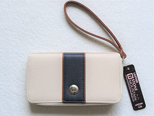 e1e41f1d0693 Image Unavailable. Image not available for. Color  Stone Mountain Tumbled  Leather Zip-Around Wallet ...