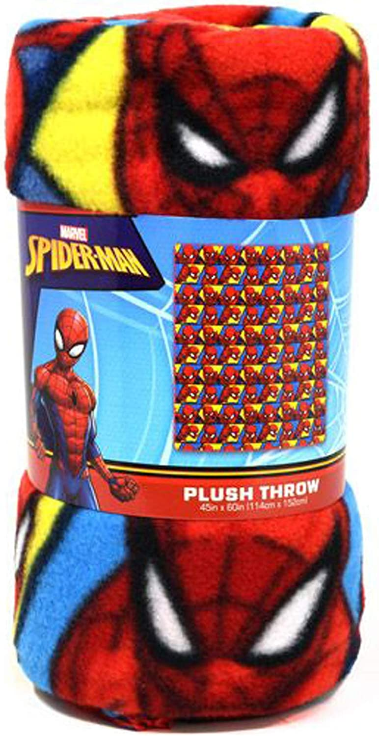 Spiderman Blanket  Soft Touch Fluffy Coral Fleece,My Hero,Official Licenced