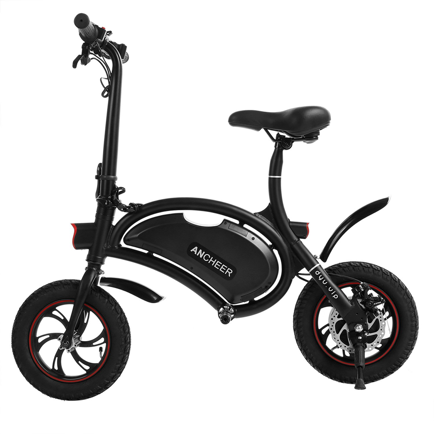 ANCHEER 2019 Folding E-Bike 350W Electric Bike, 12 Miles Range Scooter with Dual Disc Brake