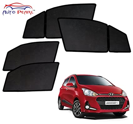 Auto Pearl Magnetic Sun Shade Curtain for Hyundai i10 Grand 2017 (Pack of  4 8f17349848b