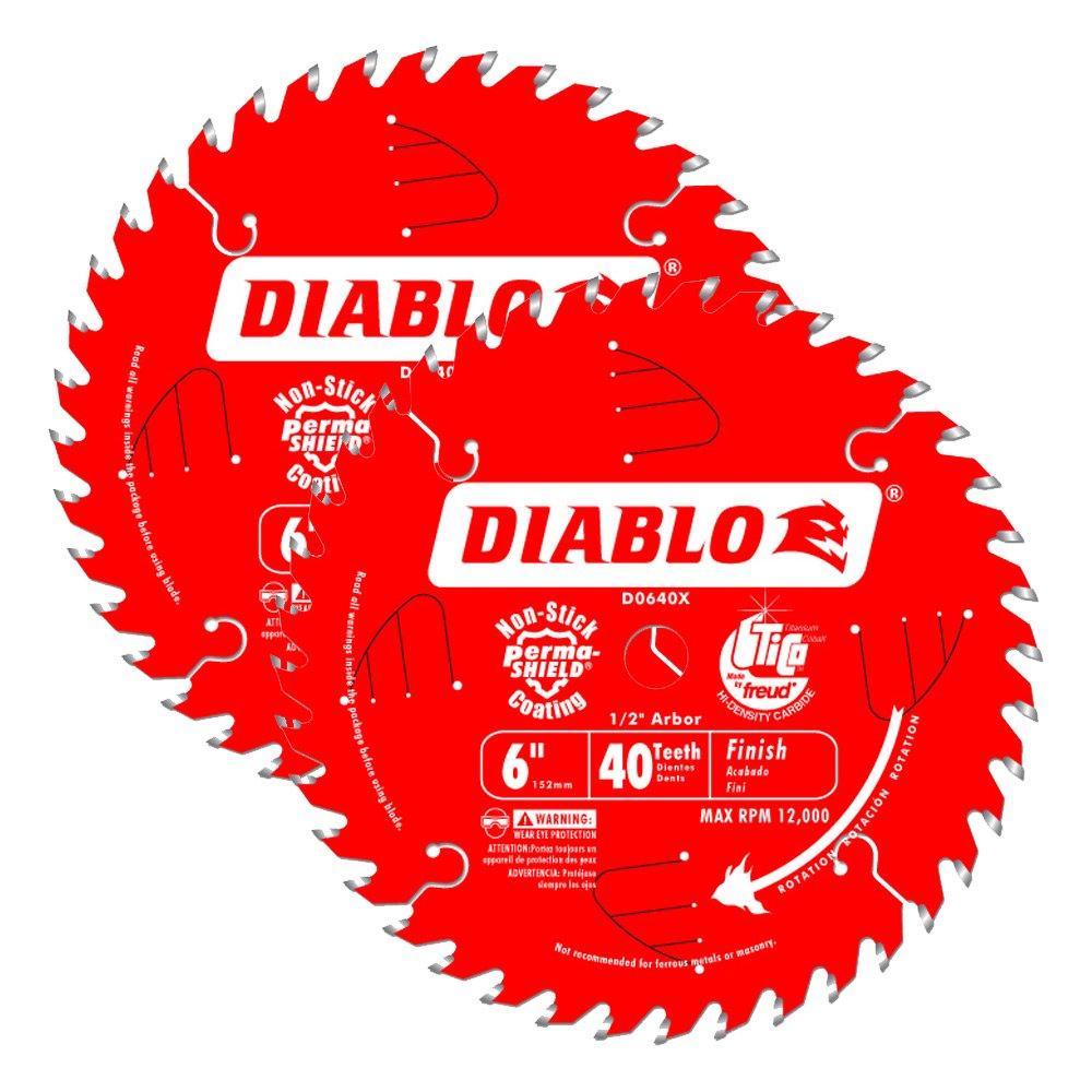 2 Hojas de Sierra DIABLO D0640X 6 x 40T ATB Terminacion s 2