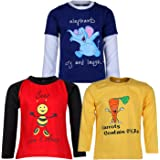 Goodway Pack of 3 Boys Full Sleeve Colour T-Shirts Did You Know Theme-3