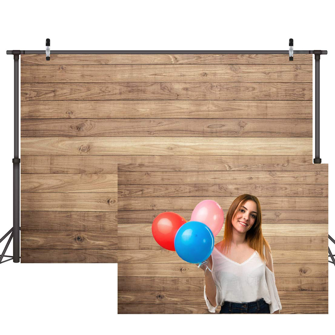 CYLYH 7x5ft Vinyl Wood Backdrop for Photography Rustic Natural Wood Floor Background Baby Shower Backdrops Party Newborn Baby Photoshoot Portrait Studio Props D178 by CYLYH