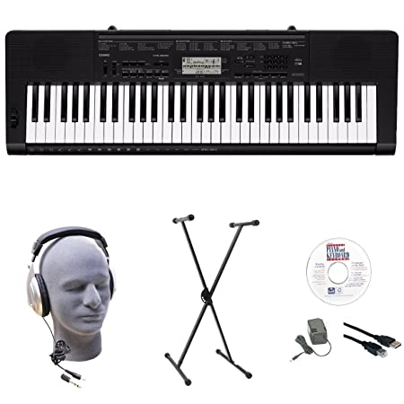 Casio CTK-3500 EPA 61-Key Premium Keyboard Pack with Stand, Headphones, Power Supply, USB Cable & eMedia Instructional Software Portable Keyboards at amazon