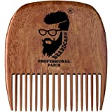 Beardcare Organic Real Man Wooden Comb for Beard and Moustache, Small (3364)