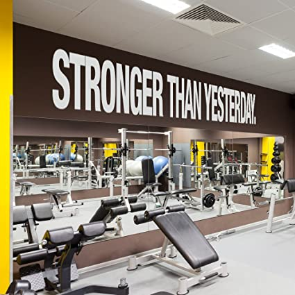Amazon gym wall decals inches stronger than