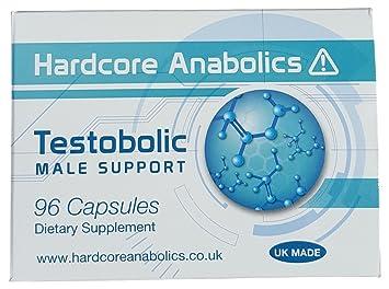 Potenciador de Testosterona Testobolic Suplemento Pruebas para Hombre con Ácido Aspártico, DAA, Maca, L-Arginina, Tribulus Terrestris y Shilajit 500 mg 96 ...