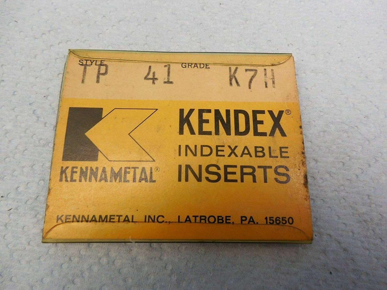 5PCS NEW KENNAMETAL TP 41 K7H KENDEX INDEXABLE INSERTS METALWORKING TOOLING USA