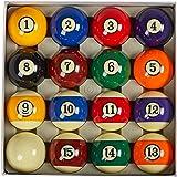 "Collapsar AAA Grade Billiard Pool Ball Set,2-1/4"" Regulation Size & Weight Full 16 Resin Balls(Several Styles Available)"