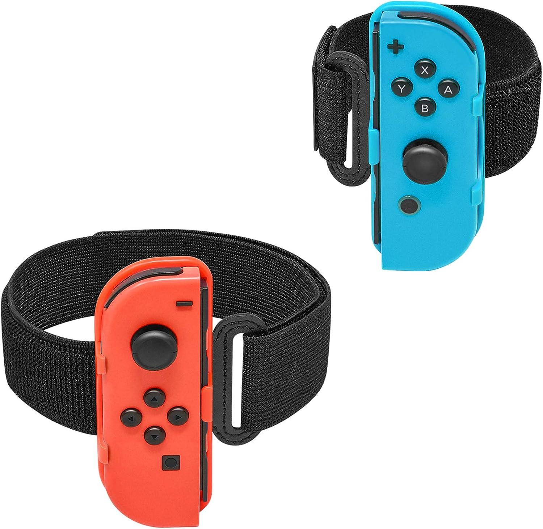2 unidades] para Just Dance 2020 2019 Switch pulsera y anillo Fit Adventure Band para Nintendo Switch Joycon, FastSNAIL Wrist Band Pulseras Leg Strap Sport Straps para Switch: Amazon.es: Electrónica