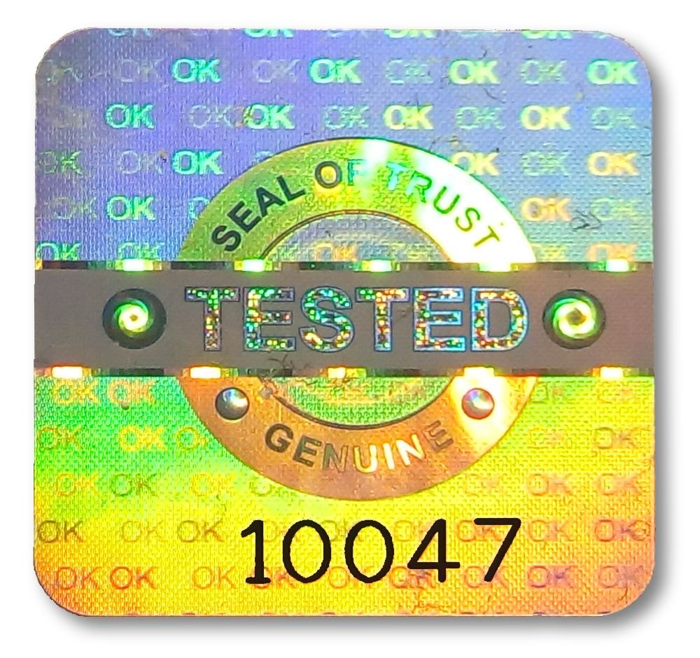 98x large tested ok security hologram stickers 0 8 20mm square labels qc checked original tamper evident secure valid authentic genuine