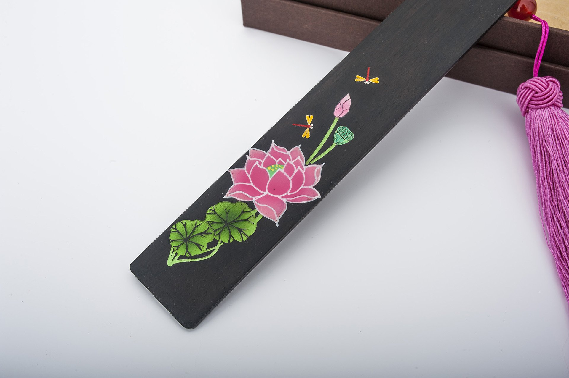 Unique Gifts Bookmark For Books Markers, Painting Ebony Redwood Bookend Office and School, High Grade Present Gift. (pink)