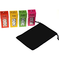 Rory's Story Cubes Expansion Bundle - Includes Prehistoria, Enchanted, Score, Medic & Hickoryville Velour Drawstring Bag (5 Items)